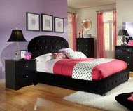 Marilyn Upholstered Bed Full Size Black | Standard Furniture | ST-9439394394