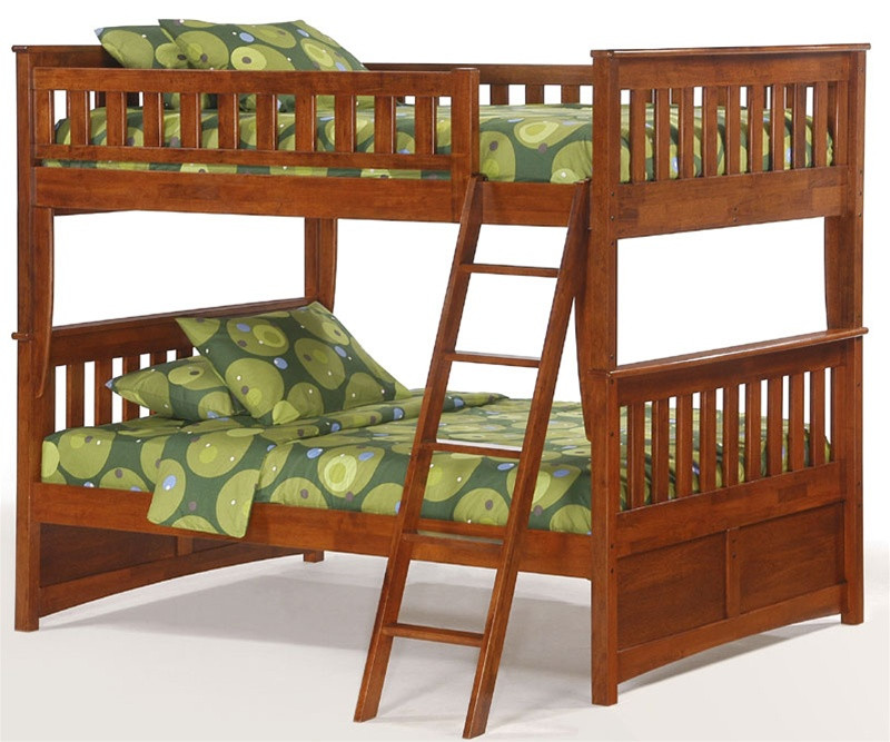Night And Day Spice Full Over Full Bunk Bed In Cherry Night And