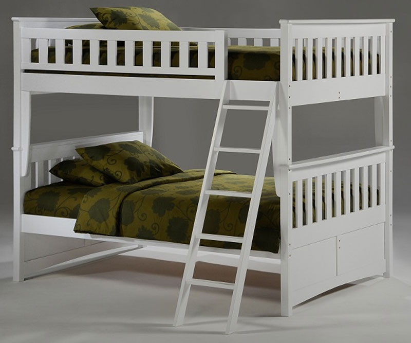 Night And Day Spice Full Over Full Bunk Bed In White Night And Day
