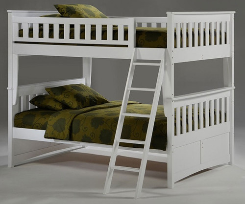 timber creek full over full bunk bed white night and day furniture tcffb
