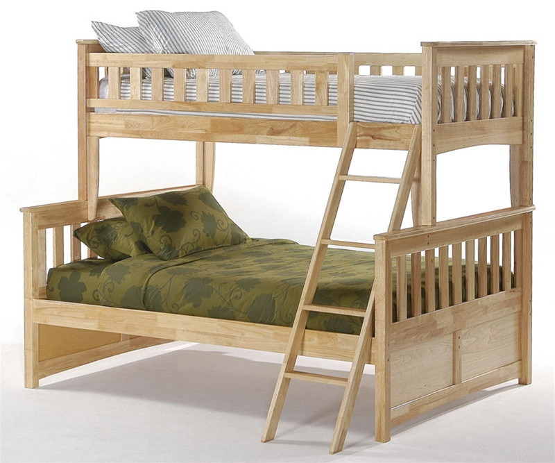 Night And Day Ginger Twin Over Full Bunk Bed In Natural Spices