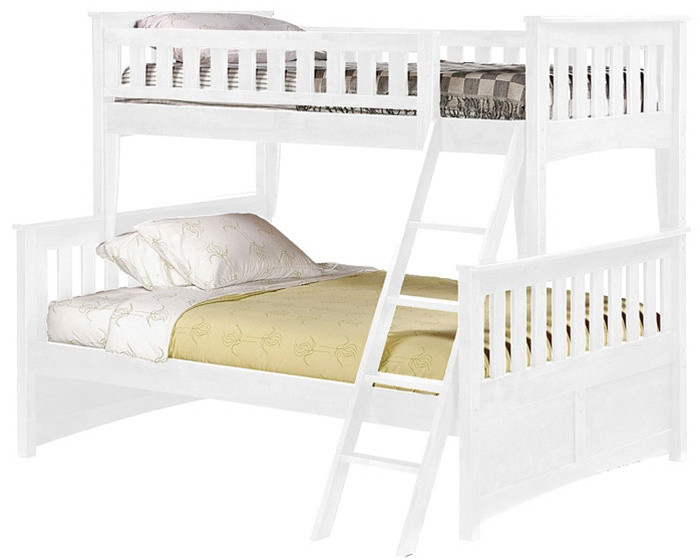Night And Day Ginger Twin Over Full Bunk Bed In White Spices