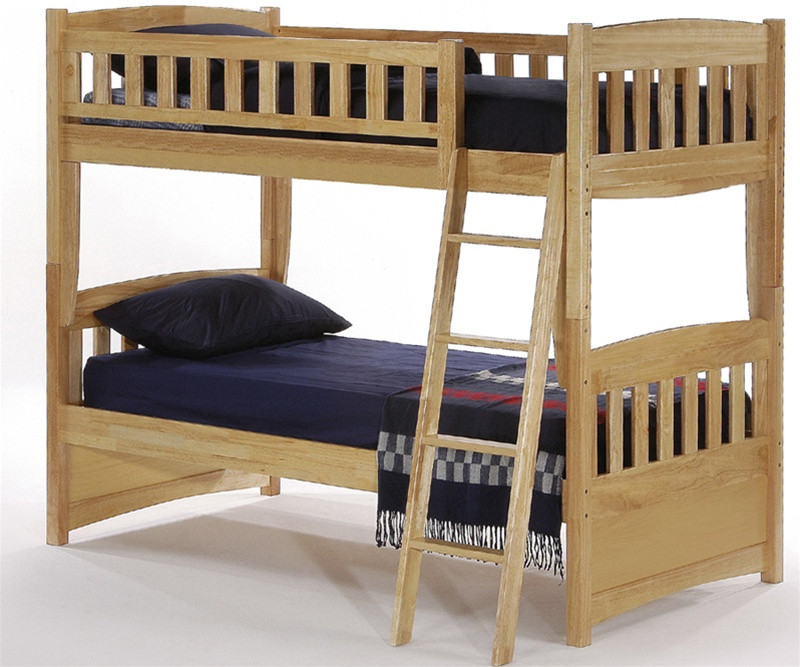 Night And Day Cinnamon Twin Bunk Bed Natural Spice Collection