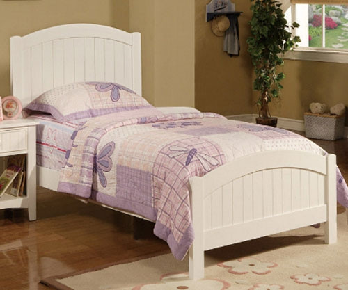 Poundex Furniture F9049 Girls Boys White Bedroom Furniture