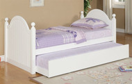 Spring Dream Twin Bed with Trundle White | Poundex Furniture | UF9057T