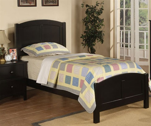 Poundex Furniture Black Kids Twin Bed Kid Bedroom Furniture