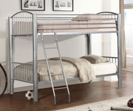 Heavy Metal Twin over Twin Bunk Bed - Silver 1