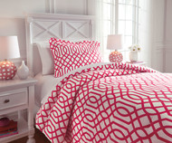 Taylor Bedding Set Fuchsia