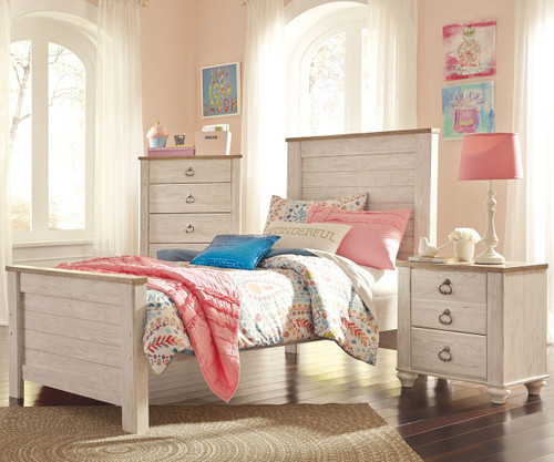 Willowton Twin Size Panel Bed B267 Ashley Kids Furniture