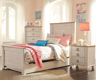 Willowton Panel Bed with Trundle Twin Size