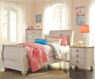 Willowton Sleigh Bed Twin Size
