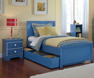 Bronilly Panel Bed with Trundle Twin Size