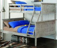 Driftwood Twin over Full Bunk Bed | Donco Trading | DT004TFD