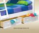 Hampton Twin over Full Bunk Bed White | 25254 | GT-TF83001W