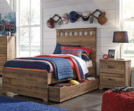 Brobern Panel Bed with Trundle Twin Size