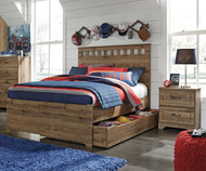 Brobern Panel Bed with Trundle Full Size