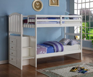 Arch Stair Stepper Bunk Bed White