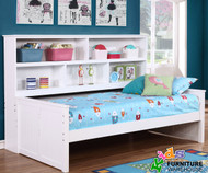 Allen House Bookcase Captains Daybed Twin Size White