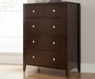 Urbana 5 Drawer Chest Chocolate