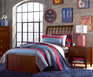 Urbana Sleigh Bed Twin Size Cherry
