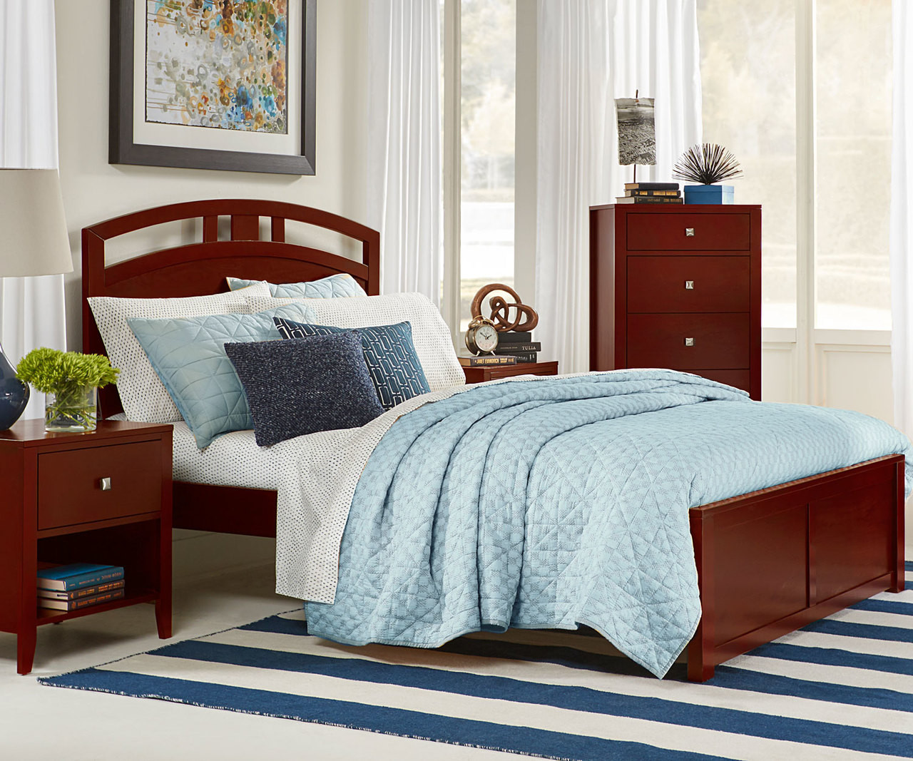 Urbana Cherry Finish Full Size Arch Bed 31022N | NE Kids Furniture ...