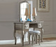 Kensington Lighted Vanity Antique Silver | NE Kids Furniture | NE30540-30560