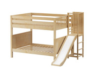 Maxtrix DOMAIN Medium Bunk Bed with Slide Platform Full Size Natural