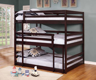 Sandler Triple Bunk Bed Full Size Cappuccino
