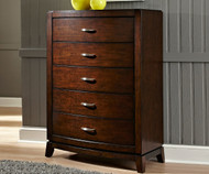 Avalon 5 Drawer Chest Dark Truffle
