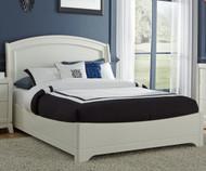 Avalon Platform Bed Full Size White Truffle