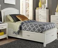 Avalon Leather Storage Bed Full Size White Truffle