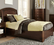 Avalon Platform Bed Twin Size Dark Truffle