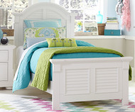 Summer House Panel Bed Full Size White