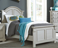 Summer House Panel Bed Twin Size Gray