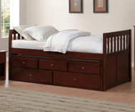 Stanford Captains Trundle Bed Cherry
