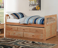 Stanford Captains Trundle Bed Natural