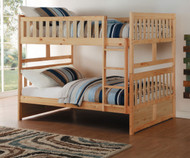 Stanford Full Over Full Bunk Bed Bed White Finish B2053ffw 1 Home