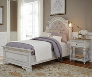 Magnolia Manor Upholstered Panel Bed Twin Size