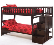 Crestwood Bunk Bed with Stairs Chocolate