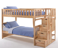 Crestwood Bunk Bed with Stairs Natural