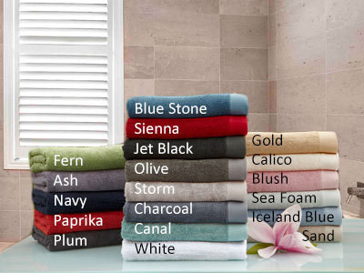 Baksana bamboo hand towels are available in 17 colours inspired by nature.