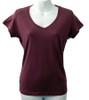 Grape Organic Bamboo Fibre V-Neck T-Shirt