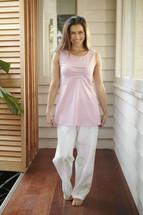 Baksana Pink Floral Pyjama Set - Size M