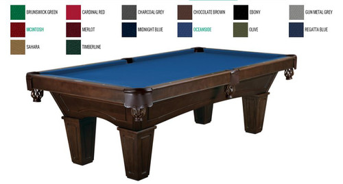 Brunswick Allenton Pool Table Espresso Stain Tapered Leg - Brunswick centennial pool table