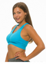 Get Active! Sports Bra/Workout Top with Racer Back! Blue.