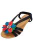 Black & Multi Flower Sandals!