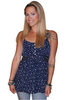 Navy & White Polka Dot Top ties with a Bow in the Back!