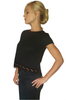 Black Top With Boho Lace Trim!
