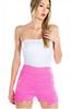 Pink Stretch Crochet Hi-Waisted Shorts!