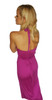 Maxi Dress with Slit Side and Zebra Print Lining! Magenta Purple.